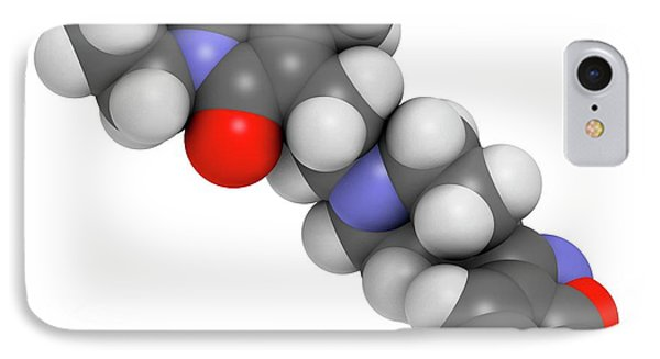 Paliperidone Drug Molecule IPhone Case by Molekuul