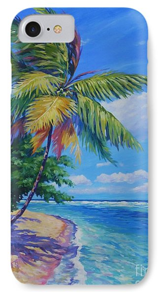 Palm At The Water's Edge IPhone Case by John Clark