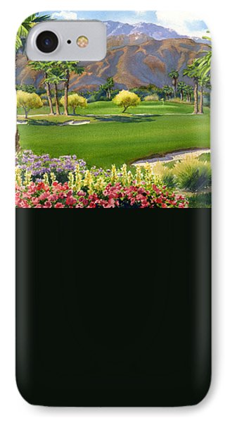 Palm Springs Golf Course With Mt San Jacinto IPhone Case by Mary Helmreich