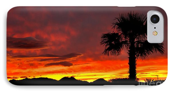 Palm Tree Silhouette Phone Case by Robert Bales
