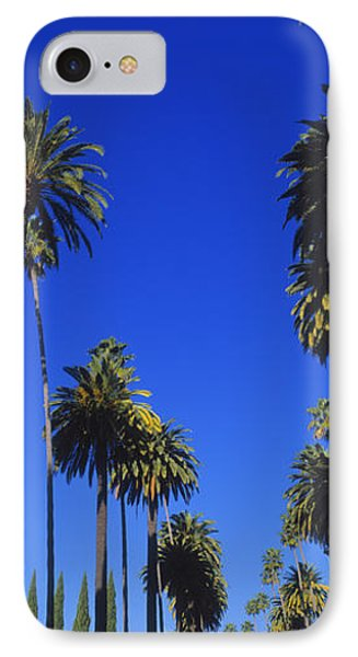 Palm Trees Along A Road, Beverly Hills IPhone 7 Case by Panoramic Images