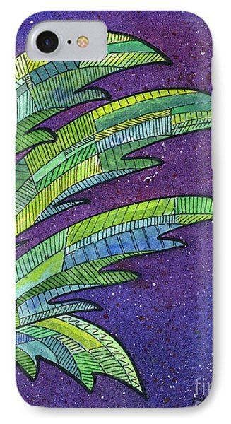 Palms Against The Night Sky IPhone 7 Case by Diane Thornton