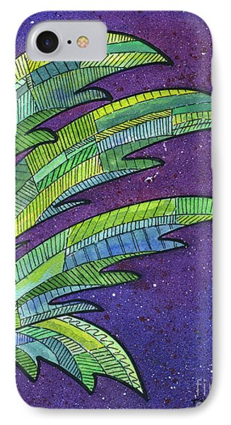 Palms Against The Night Sky IPhone Case by Diane Thornton