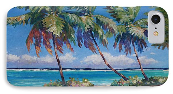 Palms At The Island's End IPhone Case by John Clark