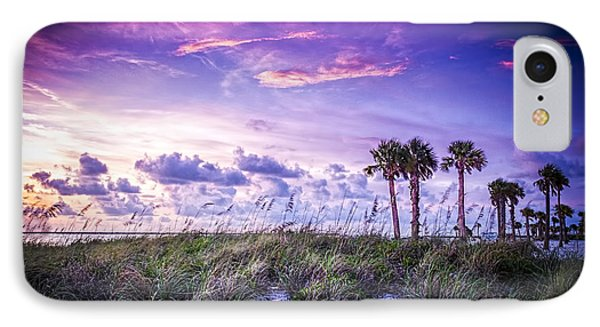 Palms On The Beach IPhone Case by Marvin Spates