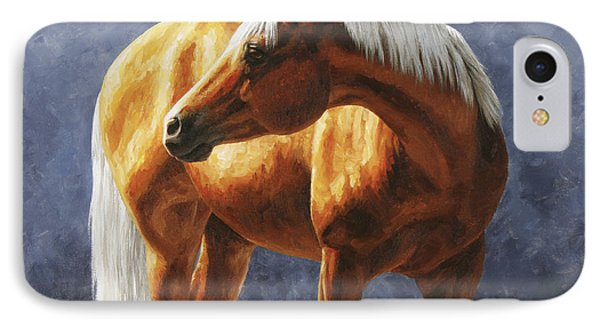 Palomino Horse - Gold Horse Meadow IPhone Case by Crista Forest