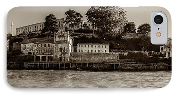 Panorama Alcatraz Torn Edges Phone Case by Scott Campbell