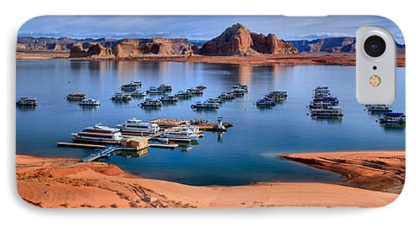 Panoramic View Of Lake Powell IPhone Case by Adam Jewell