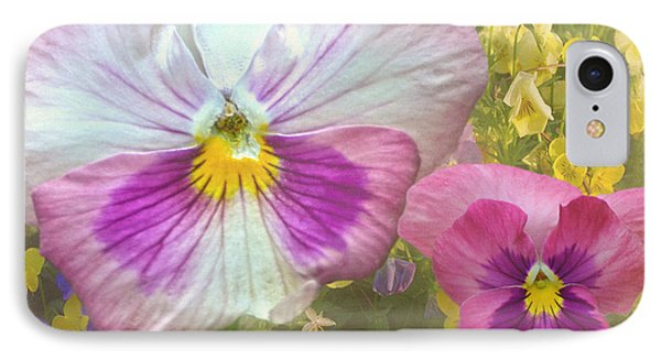 Pansy Duo Phone Case by Sandi OReilly