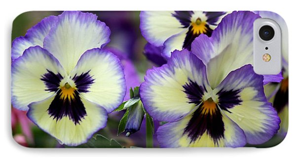Pansy Faces Phone Case by Theresa Willingham
