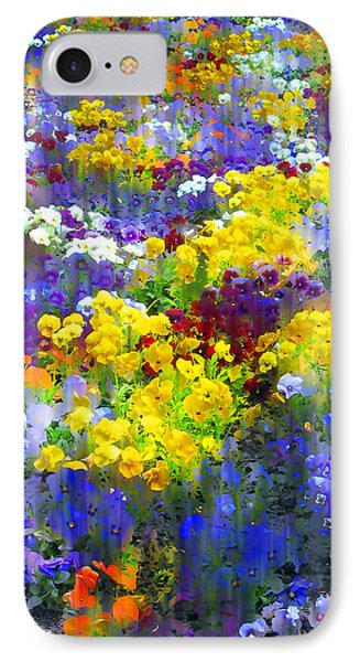 Pansy Party IPhone Case by Jessica Jenney