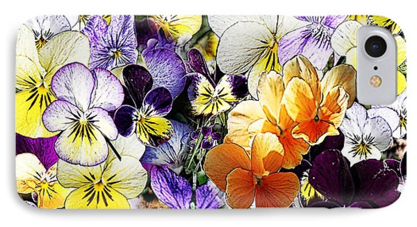 Pansy Posy Phone Case by Erica Hanel