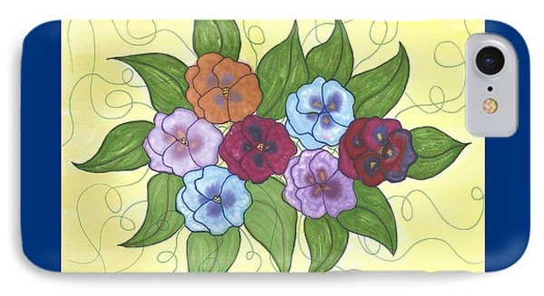 Pansy Posy Phone Case by Susie WEBER