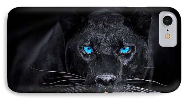 Panther Phone Case by Jean raphael Fischer
