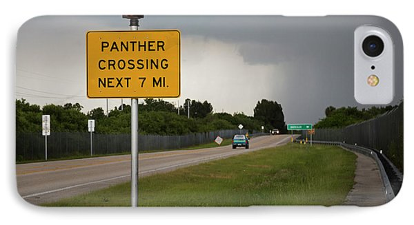 Panther Warning Sign IPhone Case by Jim West