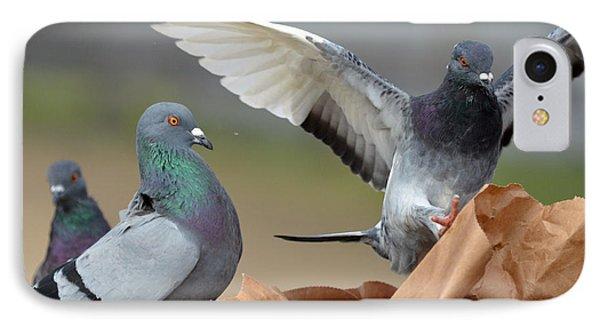 Paper Bag Pigeons 3 Phone Case by Fraida Gutovich