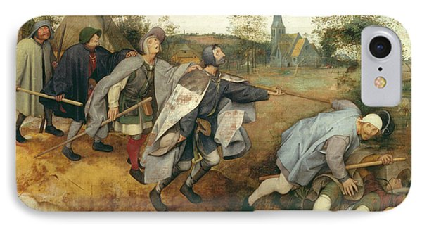 Parable Of The Blind, 1568 Tempera On Canvas IPhone Case by Pieter the Elder Bruegel