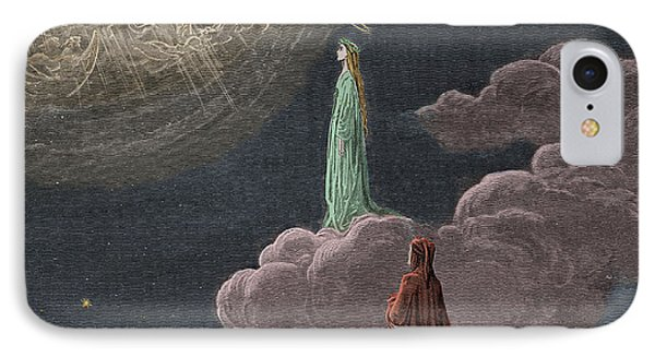 Paradiso  Canto Fourteen IPhone Case by Gustave Dore