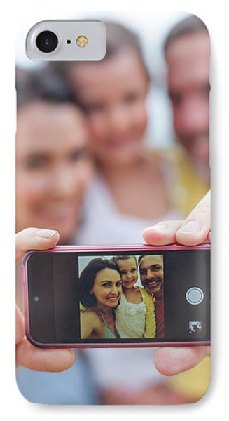 Parents Taking Family Photograph IPhone Case by Ian Hooton