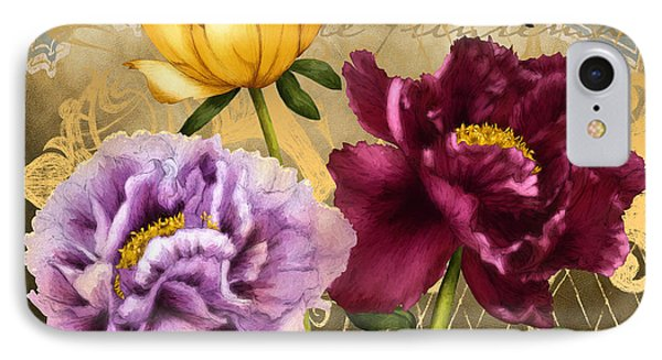 Parisian Peonies IPhone Case by April Moen
