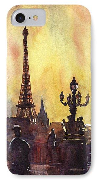 Parisian Sunset IPhone Case by Ryan Fox