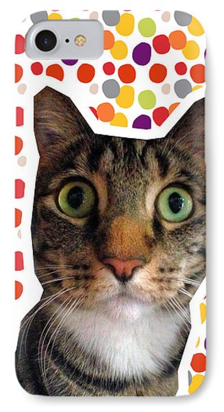Party Animal - Smaller Cat With Confetti IPhone Case by Linda Woods