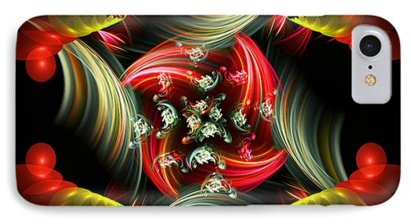 Passionate Love Bouquet Abstract IPhone Case by Georgiana Romanovna