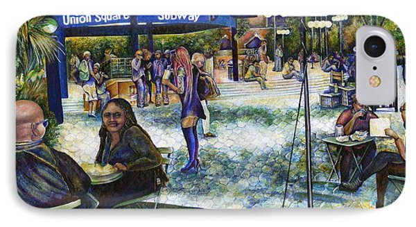 Passionate People Playing In The Park Phone Case by Gaye Elise Beda