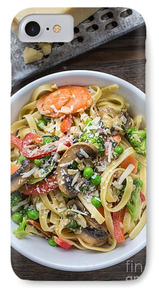 Pasta Primavera Dish IPhone 7 Case by Edward Fielding