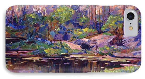 Pastel Lake At Dawn IPhone Case by David Lloyd Glover