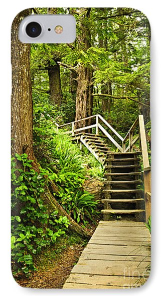 Path In Temperate Rainforest Phone Case by Elena Elisseeva