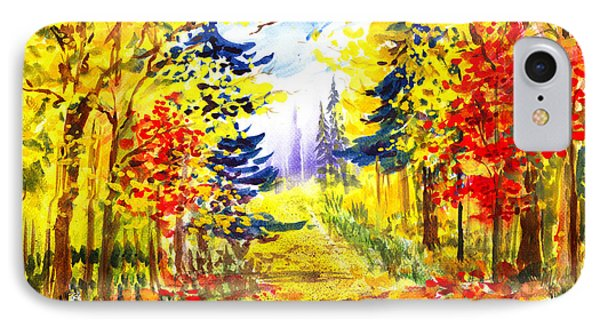 Path To The Fall IPhone Case by Irina Sztukowski