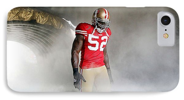 Patrick Willis IPhone Case by Marvin Blaine