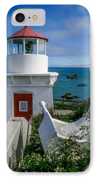 Patrick's Point Lighthouse Phone Case by Jim DeLillo