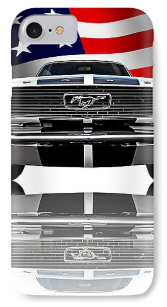 Patriotic Ford Mustang 1966 IPhone Case by Gill Billington