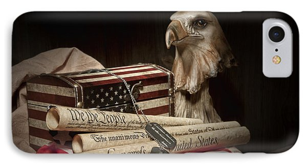 Patriotism IPhone Case by Tom Mc Nemar
