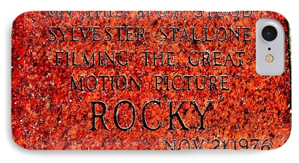 Pats Steaks - Rocky Plaque Phone Case by Benjamin Yeager