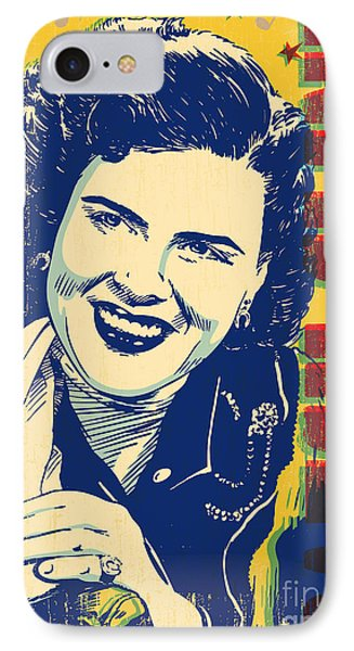 Patsy Cline Pop Art IPhone 7 Case by Jim Zahniser