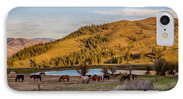 Patterson Mountain Afternoon View Phone Case by Omaste Witkowski