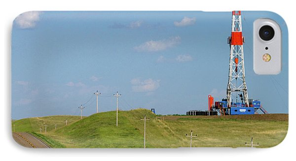 Patterson Uti Oil Drilling Rig IPhone 7 Case by David R. Frazier