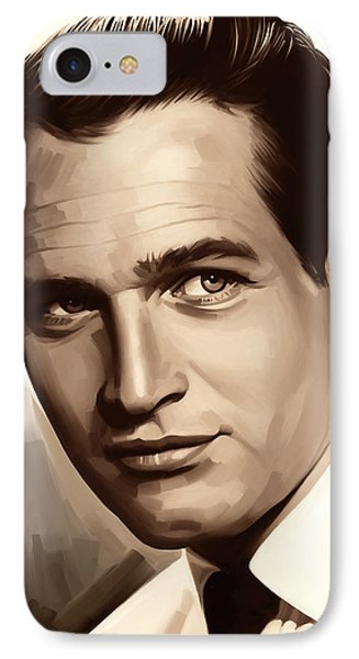 Paul Newman Artwork 1 IPhone Case by Sheraz A