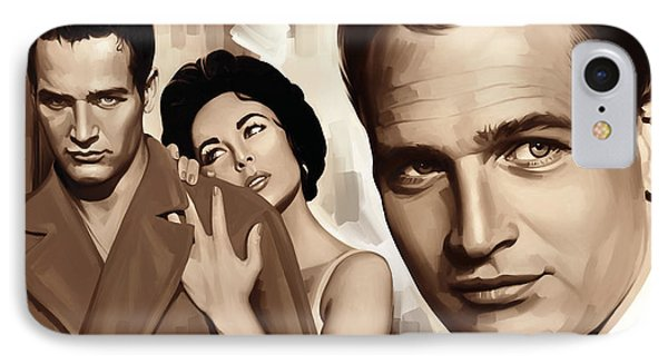 Paul Newman Artwork 2 IPhone Case by Sheraz A