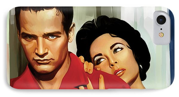 Paul Newman Artwork 3 IPhone Case by Sheraz A