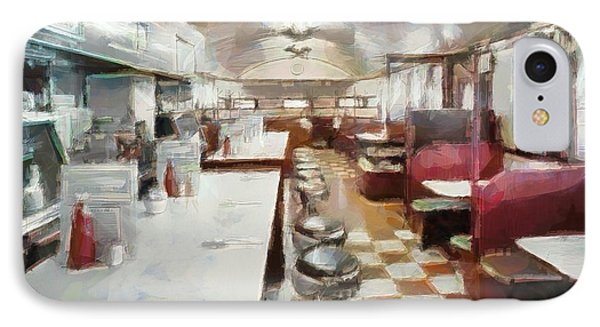 Pawtucket Diner Interior IPhone Case by Dan Sproul