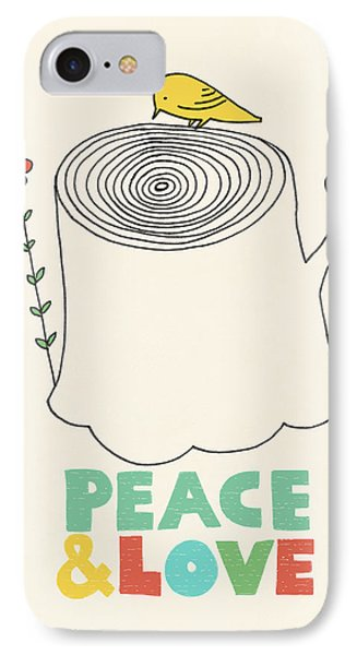 Peace And Love IPhone Case by Eric Fan