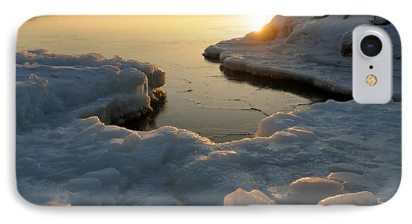Peaceful Moment On Lake Superior Phone Case by Sandra Updyke