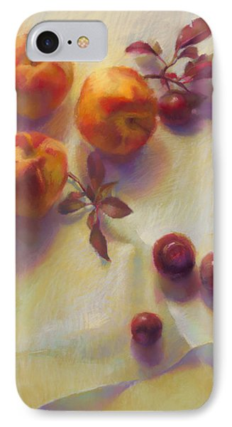Peaches And Plums Phone Case by Cathy Locke