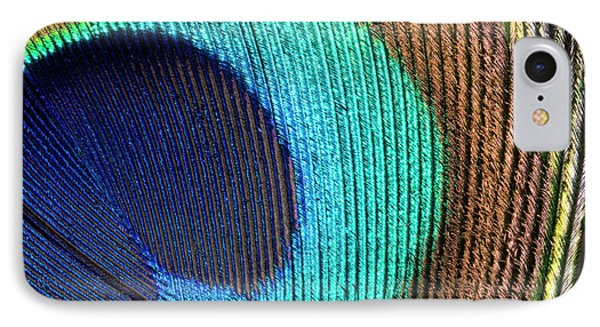 Peacock Feather Abstract IPhone Case by Nigel Downer