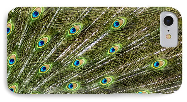 Peacock Feather Abstract Pattern Phone Case by Darleen Stry