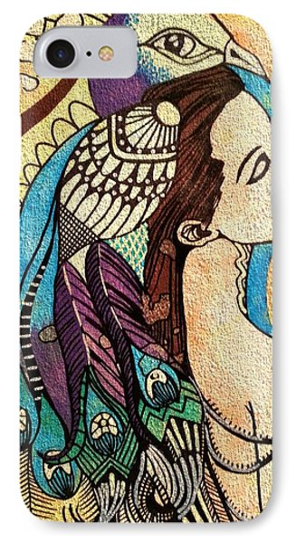 Peacock Woman Phone Case by Amy Sorrell